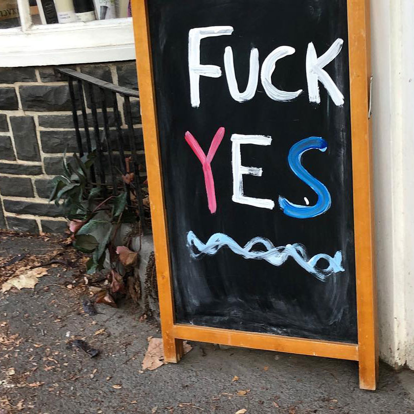Fuck Yes in NYC by Amy Douglas